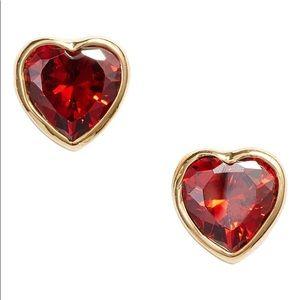 ♠️Kate Spade Romantic Rock Stud Earrings Red